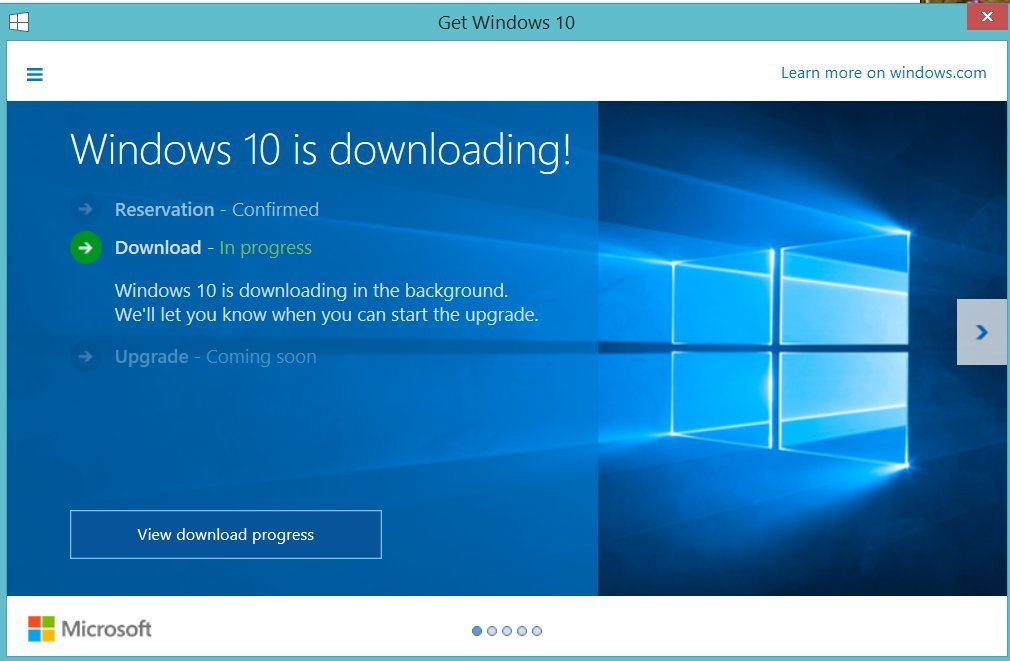 Microsoft has confirmed that they are downloading Windows 10 to users machines without their consent