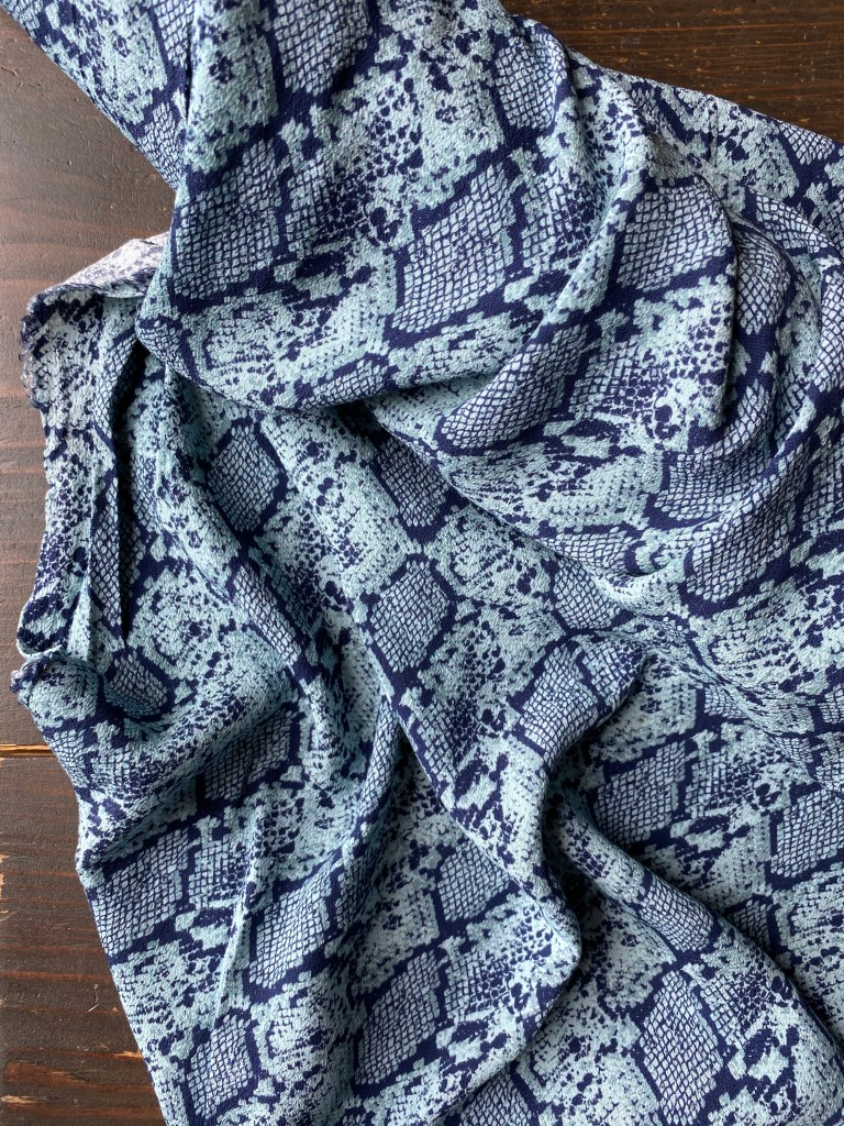 Denim Blue Lightweight Scarf 100/% Bamboo MADE IN ITALY
