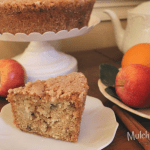 Apple Cake with pecans and a special buttermilk sauce