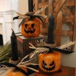 Diy Jack O Lanterns From Apple Juice Jars Mulch Paint