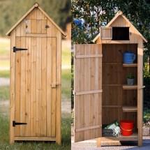 Fir Wood Arrow Shed With Single Door Wooden Live Garden