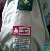Scouting Regio Drenthe Badge op uniform