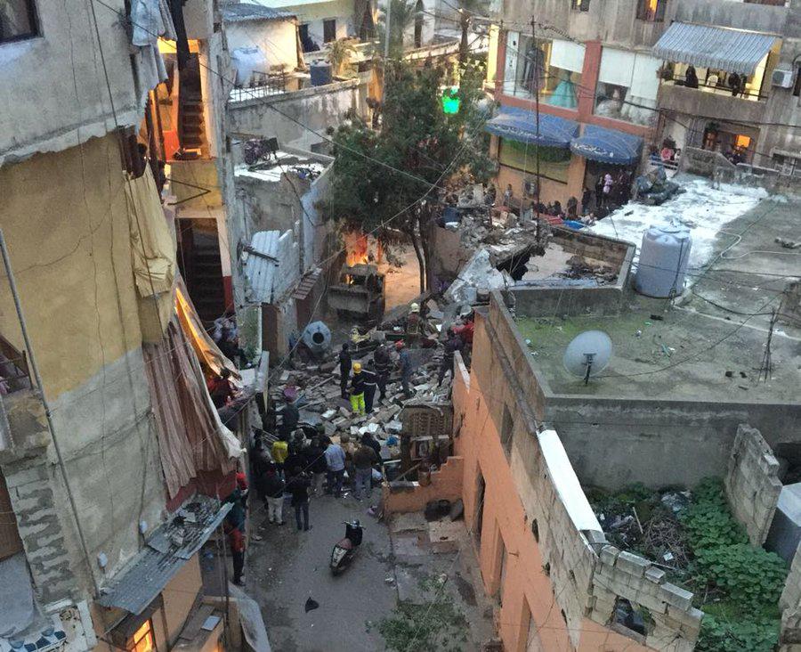 وفاة امرأة وابنتها في انهيار مبنى في برج البراجنة Mulhak