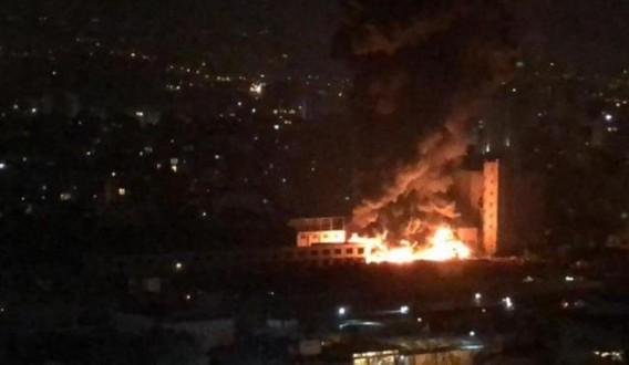 حريق كبير قرب سوق الاحد Mulhak ملحق أخبار لبنان والعالم