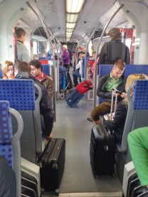 O interior do trem