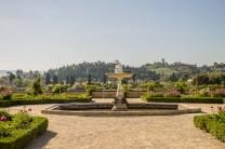 O jardim em frente ao Museu da Porcelana