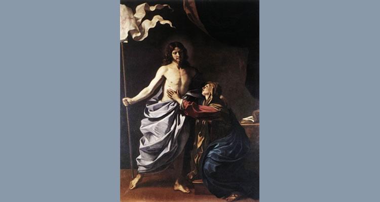 """""""O Cristo Ressuscitado aparece à Virgem"""" - Guercino, 1629."""