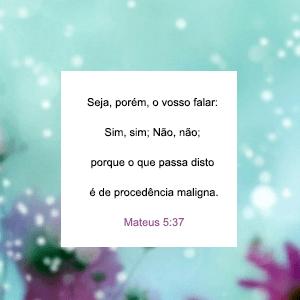 Mateus 5:37