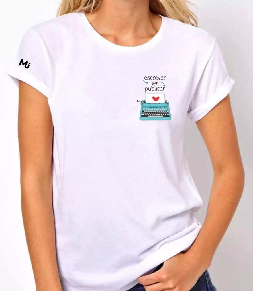 Camiseta Escrever, Ler, Publicar