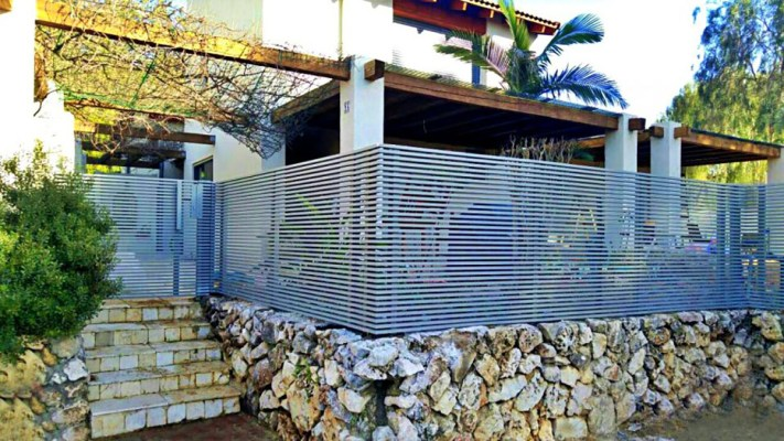 Gray Hi-Tech aluminum fence