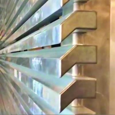 Hi-tech aluminum close up