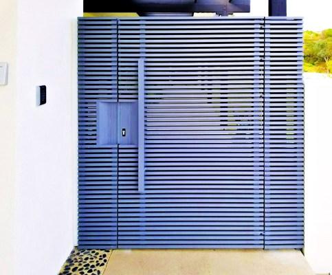 Gray Hi-Tech aluminum entry gate