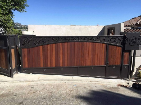 Wood and Iron Driveway gate