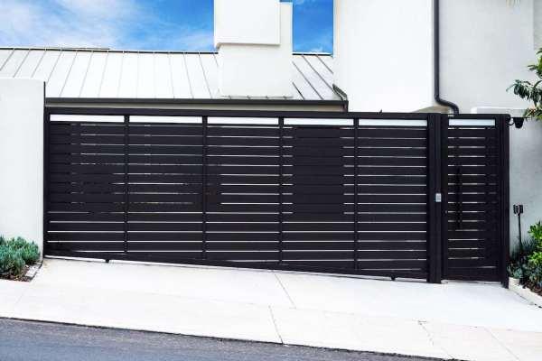 Driveway Gate & Pedestrian Gate Profile 24 with Glass