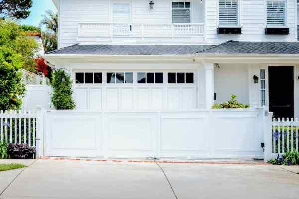 White Aluminum Sliding Driveway Gate - Mulholland Brand