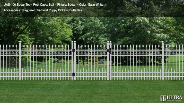 Traditional Style of aluminum fence UAS 100 Spear Top Ultrafence