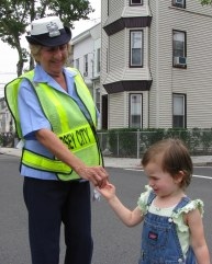 Crossing guard promotes safety
