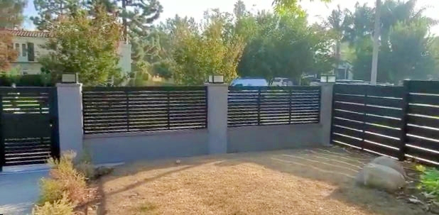 Studio City Fence and Front Yard