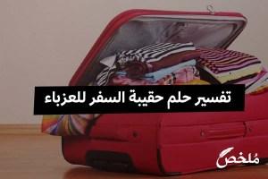 تفسير حلم حقيبة السفر للعزباء