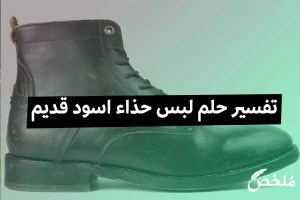 تفسير حلم لبس حذاء اسود قديم