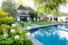 Pool and Hydrangea