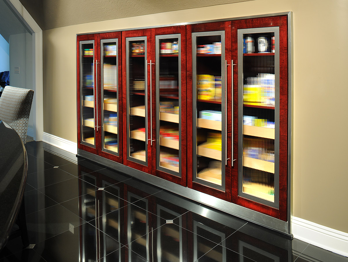 Mullet Cabinet  Contemporary Tiger Maple Kitchen