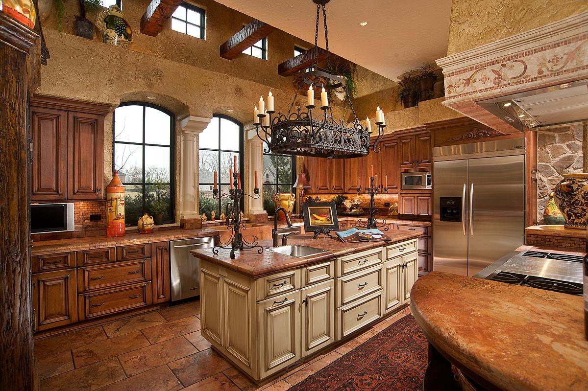 Mullet Cabinet  MediterraneanTuscan Style Kitchen
