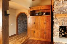 Mullet Cabinet Rustic Timber Frame Great Room