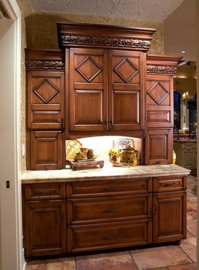 Mullet Cabinet — Mediterranean/Tuscan Style Kitchen