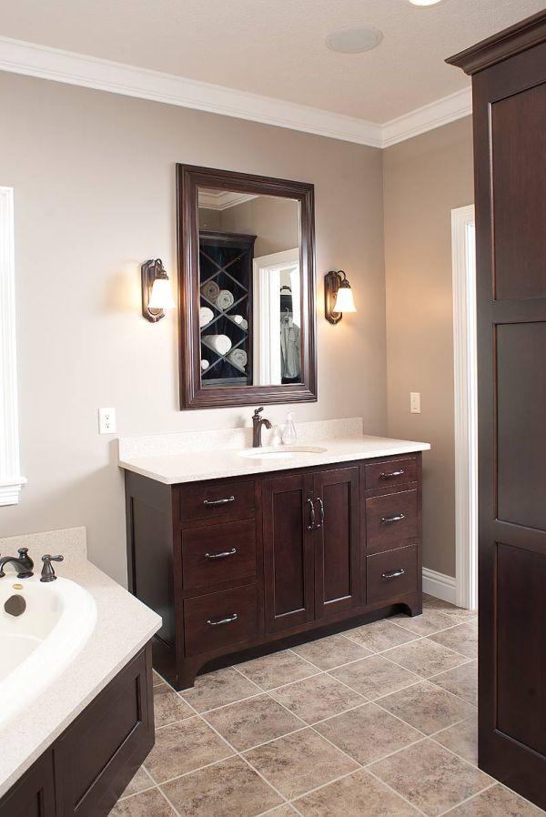Bathroom Tile Ideas with Dark Cabinets
