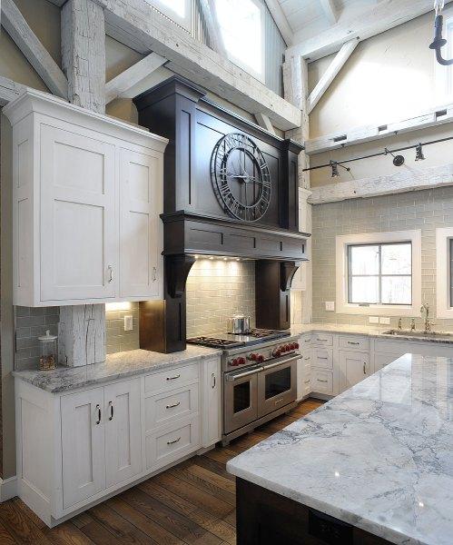 home kitchen design Mullet Cabinet — Rebuilt Timber Frame Barn Home Kitchen