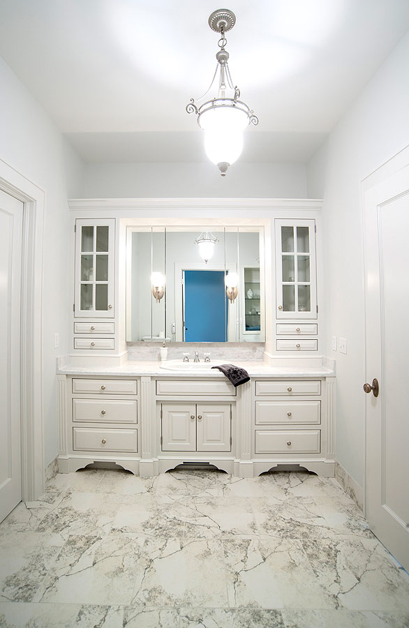 Mullet Cabinet  Elegant White Bathroom