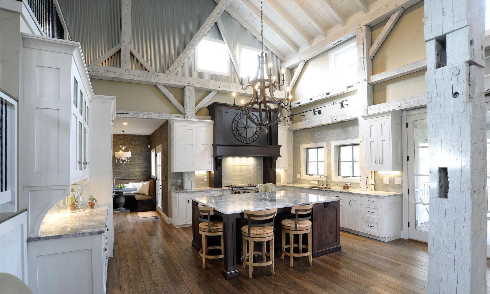 barn house kitchen discount islands mullet cabinet  rebuilt timber frame home