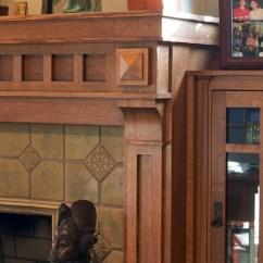 Oak Kitchen Cabinet Moen Brantford Faucet Mullet — Craftsman Mantel And Library Shelves