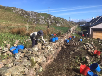 Iona walling April 2017 Billy photo