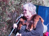Aunty Diane Kerr, welcoming all to country