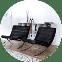 Hochwertige Barcelona Chair Replica gnstig bei Muloco