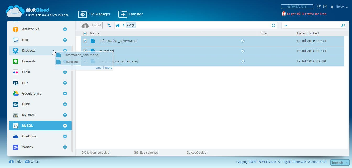 Backup MySQL Database To Dropbox Without Code Required