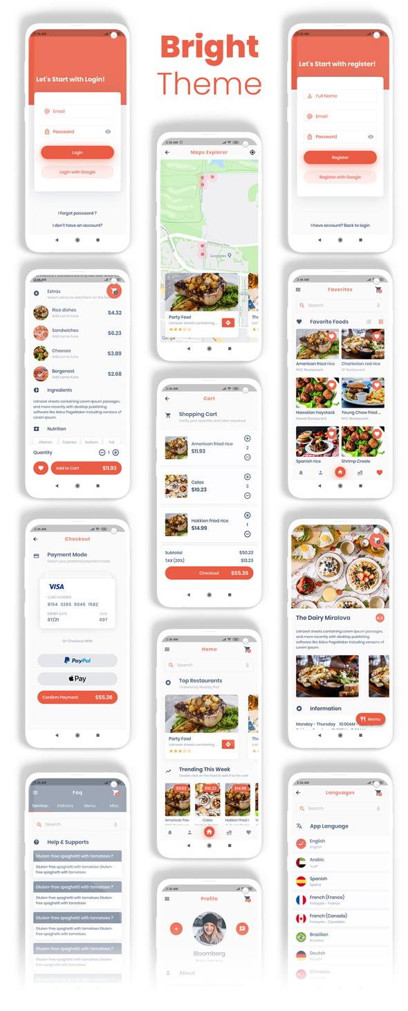 Food Delivery Flutter + PHP Laravel Admin Panel - 15