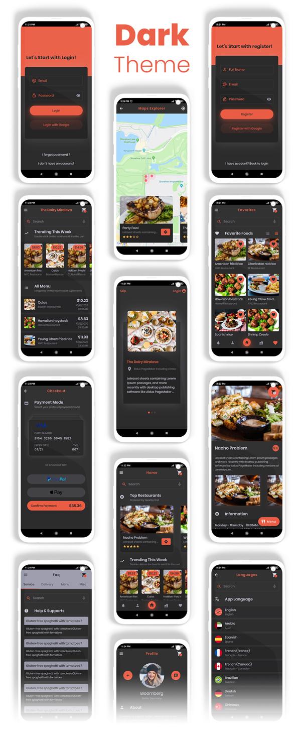 Food Delivery Flutter + PHP Laravel Admin Panel - 23