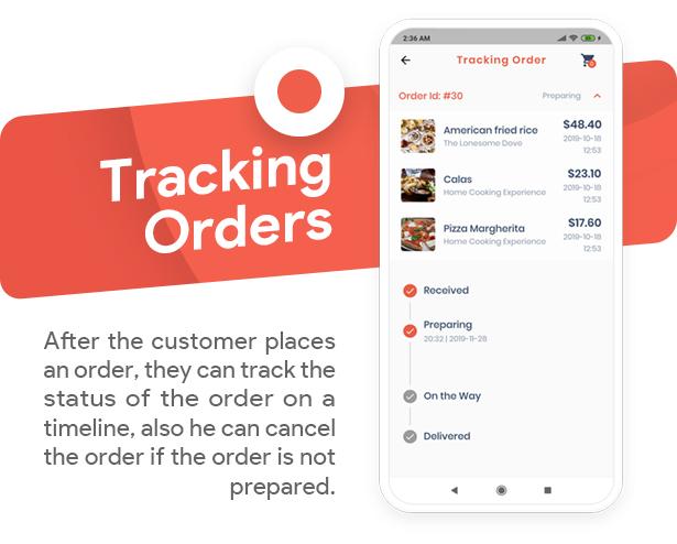Food Delivery Flutter + PHP Laravel Admin Panel - 12