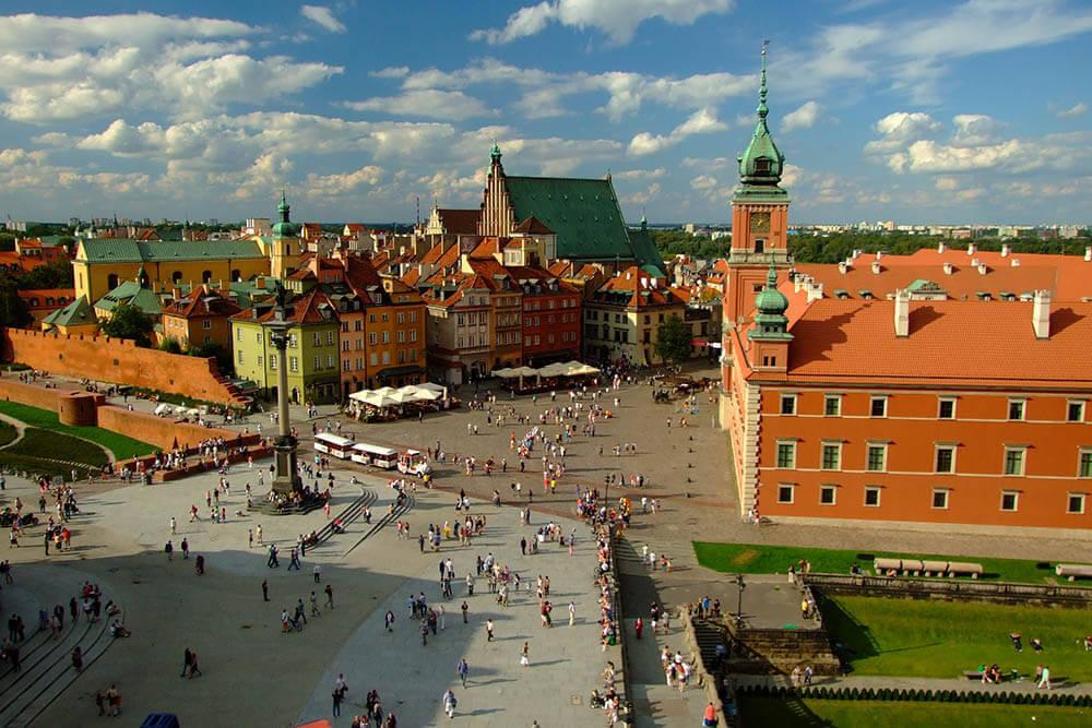 widok na wirtualne biuro w Warszawie
