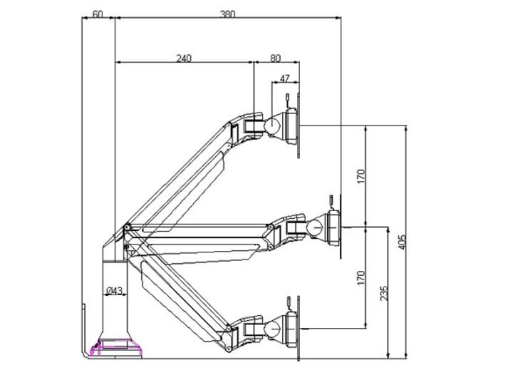 Multibrackets Europe AB — LED TV Wallmounts, Flex arms
