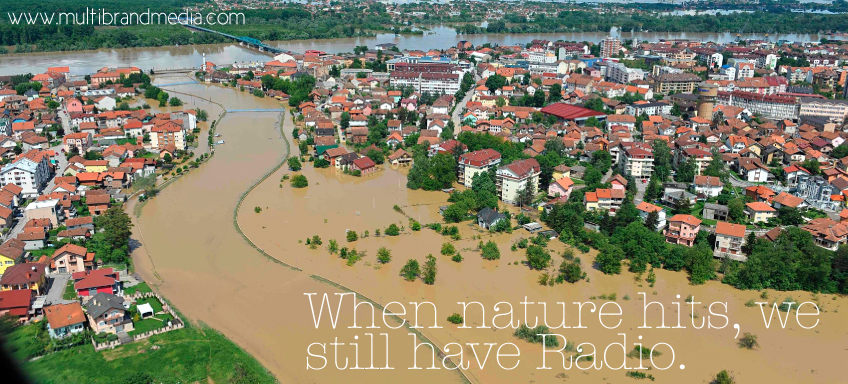 When Nature hits we still have radio. #floods #serbiafloods #bosniafloods #poplave #poplavesrbija #poplavebosna #poplavehrvatska #floodscroatia