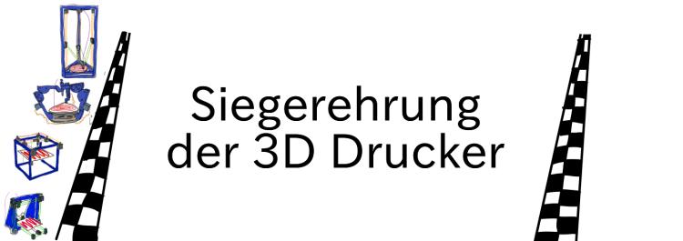 Vergleich 3D Drucker Auswertung