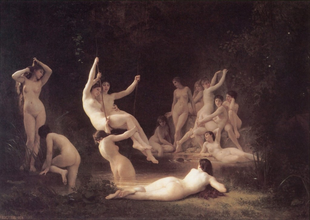 Rusałki, William Adolphe Bouguereau