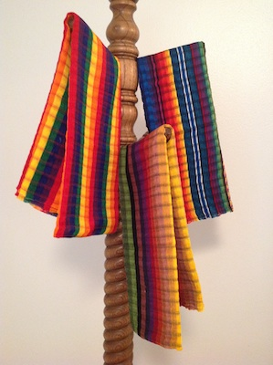 Handwoven scarf from Nicaragua.