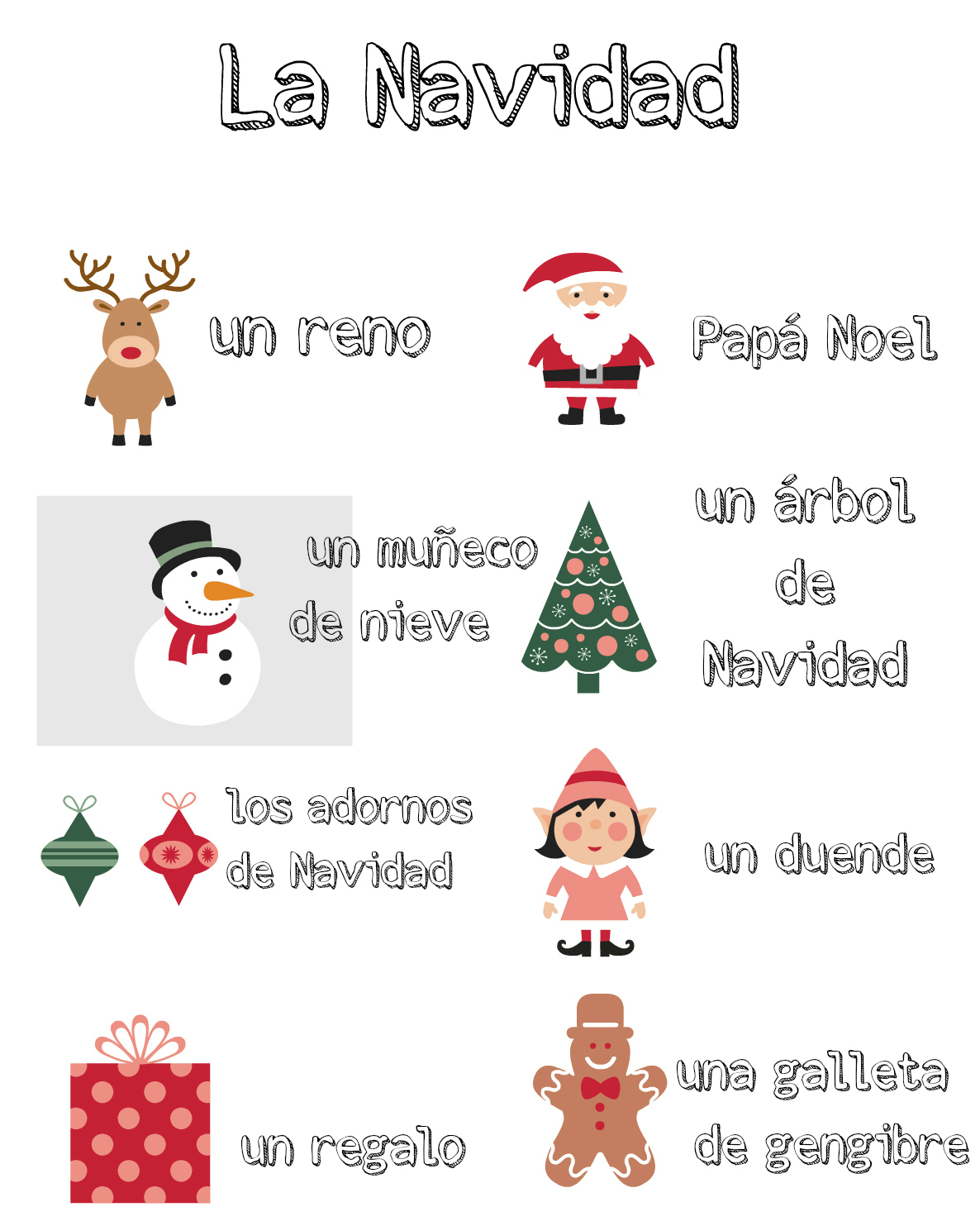 Multilingual Christmas Printables