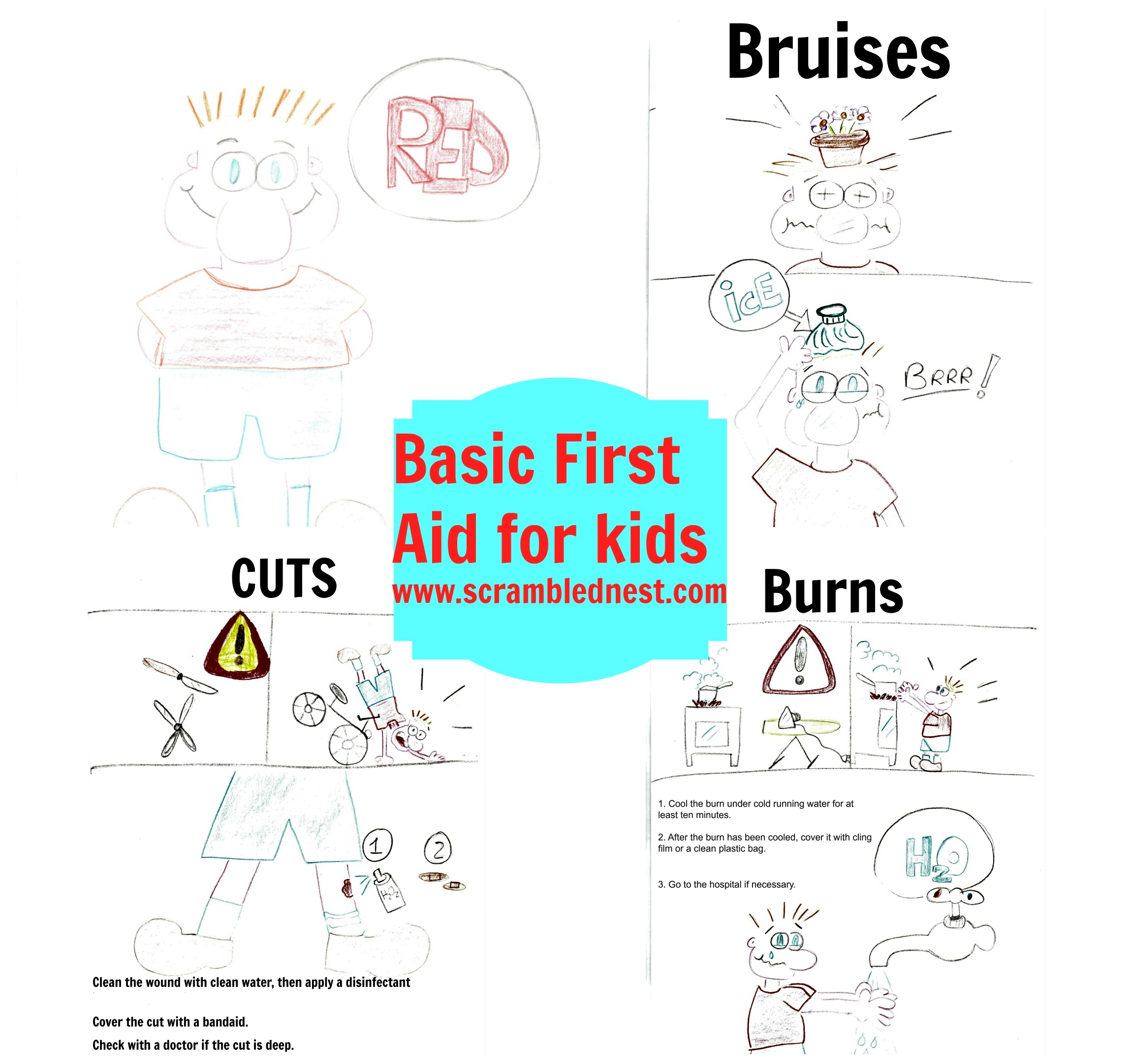 Worksheet First Aid Cuts