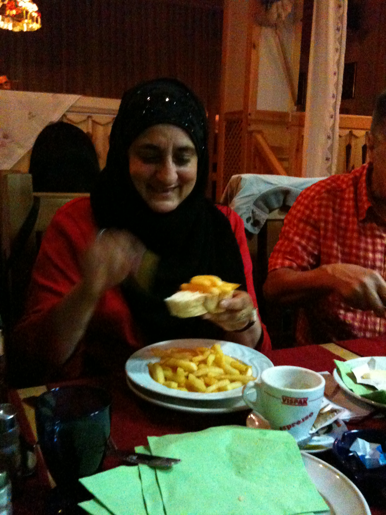 Anjum spurns the menu and creates a chip butty, Blackburn-style.